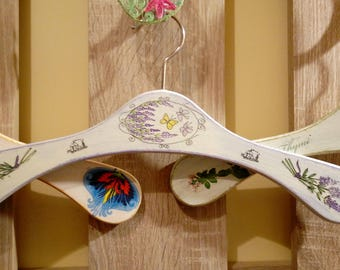 Hand decorated Wooden Dress Hanger for Adults.