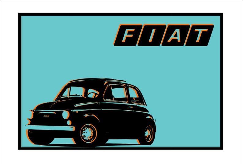 Poster Graphic Fiat 500 R Ultramobile Super Vintage