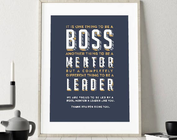 DIY PRINTABLE Boss leaving gift Digital Download Print, goodbye, boss, mentor, leader. Retirement gift frame, sorry you're leaving