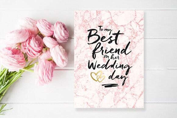 To my best friend on her wedding day