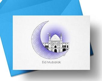 Multicolour Geometric Pattern Ramadan Mubarak Mosque Cutout Card Bunting 2 meters