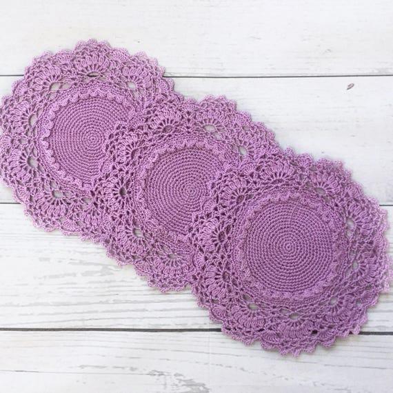 Violet Doily Crochet Lace By Patricia Kristoffersen Set