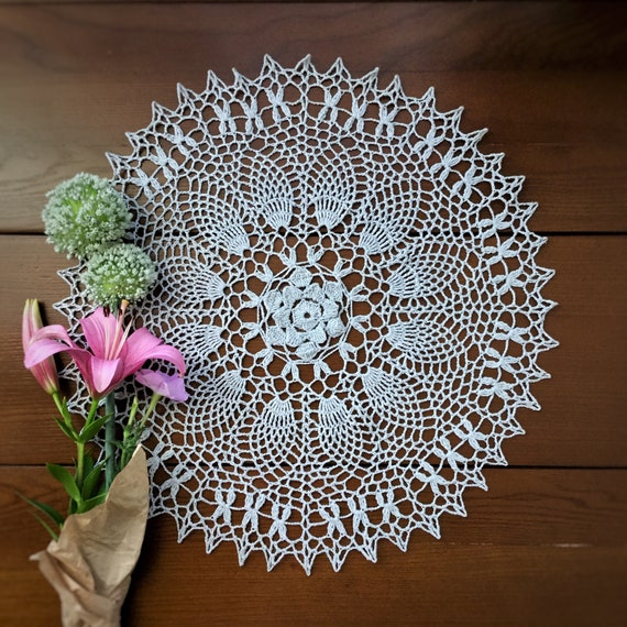 Vintage Crochet 8 Pineapple Doily PATTERN ONLY