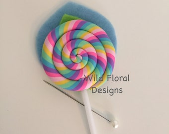 A Lollipop candy buttonhole