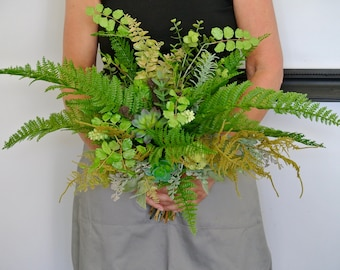 Botanical Succulent & foliage brides bouquet