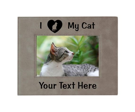 I Love My Cat Picture Framel Cat Mom Cat Lover Etsy