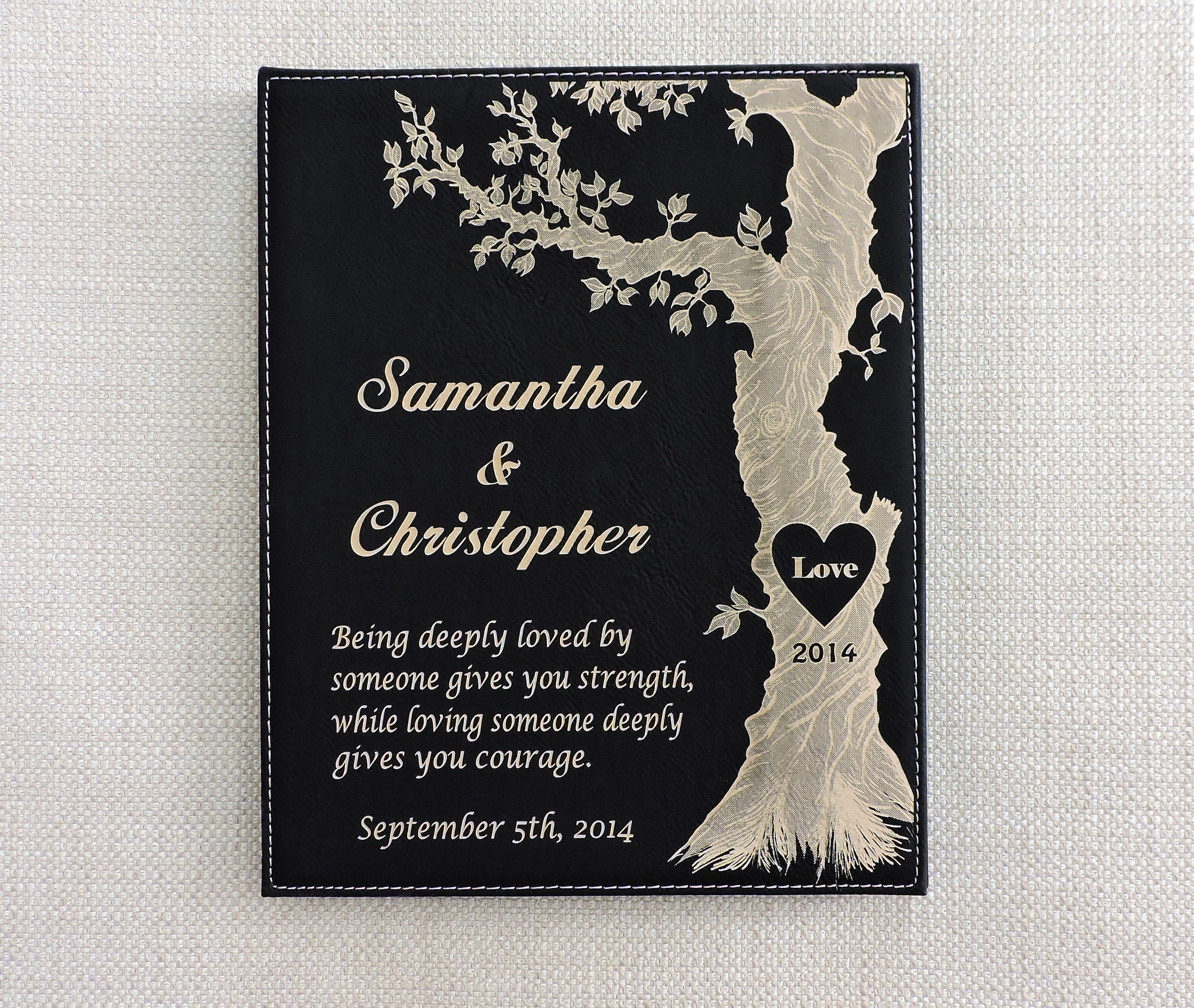 9th Wedding Anniversary Gift Leather