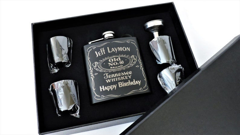 Birthday Gift For Him Bourbon Flask Executive Guy