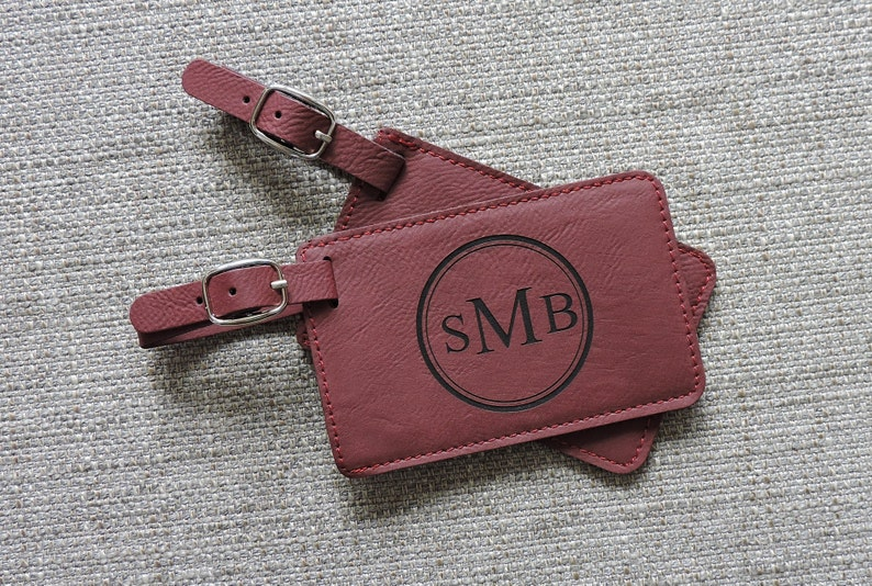 Luggage Tags Personalized Leather Luggage Tag Monogram Luggage Tag Initials Luggage Tag Custom Luggage Tag Gift