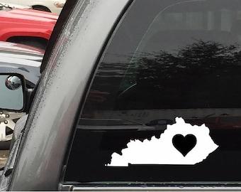Kentucky Car Decal Sticker Home Grown With Heart or Plain