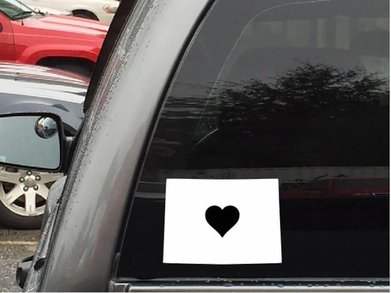 Vinyl Decal Truck Car Sticker Laptop Home State Outline Love North Dakota