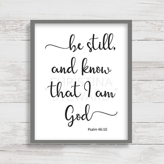 Be Still And Know That I Am God Wall Decor from i.etsystatic.com