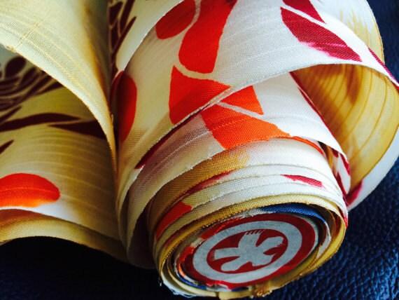 Fabrique en soie teints à la main main main japonais Vintage (rétro) boulon 11 verges 9d1312