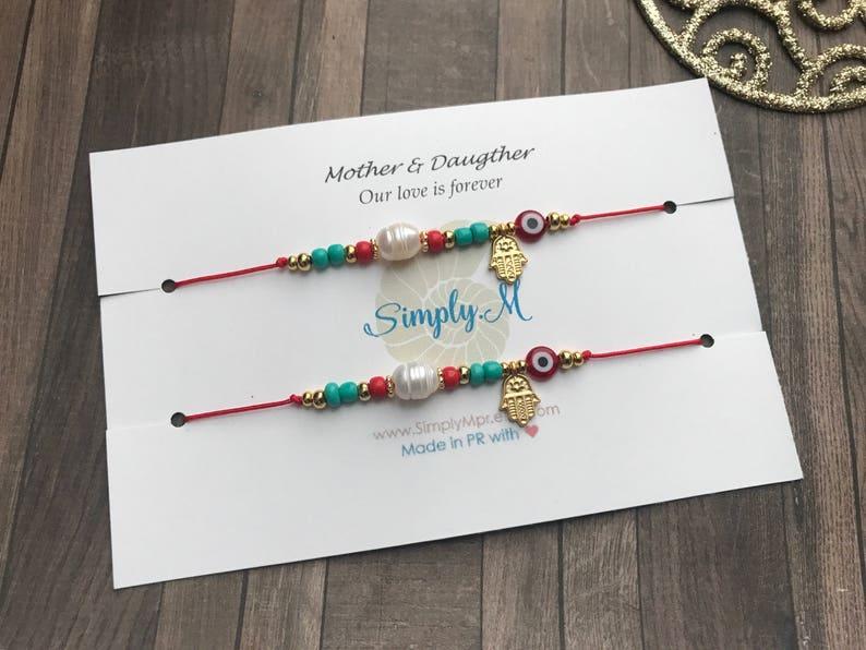 a702c5f69cb6 Madre e Hija bracelet set. Hilo rojo de amor infinito. Mother