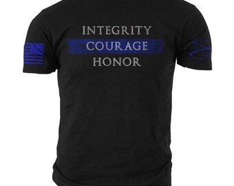 e850c863 Police Integrity Grunt Style Mens Tee