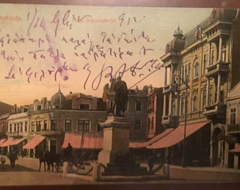 Romania Constanta 1900s, Piata Intependentei, Carta Postala, Very Rare