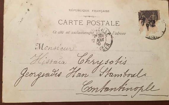 Carte Postale Francaise.1900 Marseille 8 La Cannebiere Carte Postale Francaise Etsy