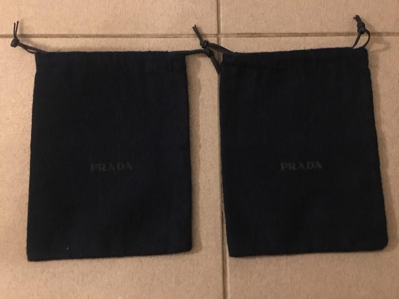 e1212a47edc832 PRADA 2 pcs Genuine Dust Bag Storage Covers For Accessories | Etsy
