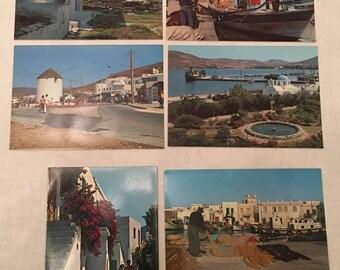 Hellas Greece Paros, General View Ελλάδα Πάρο Γενική Άποψη, 6 pcs Post Card