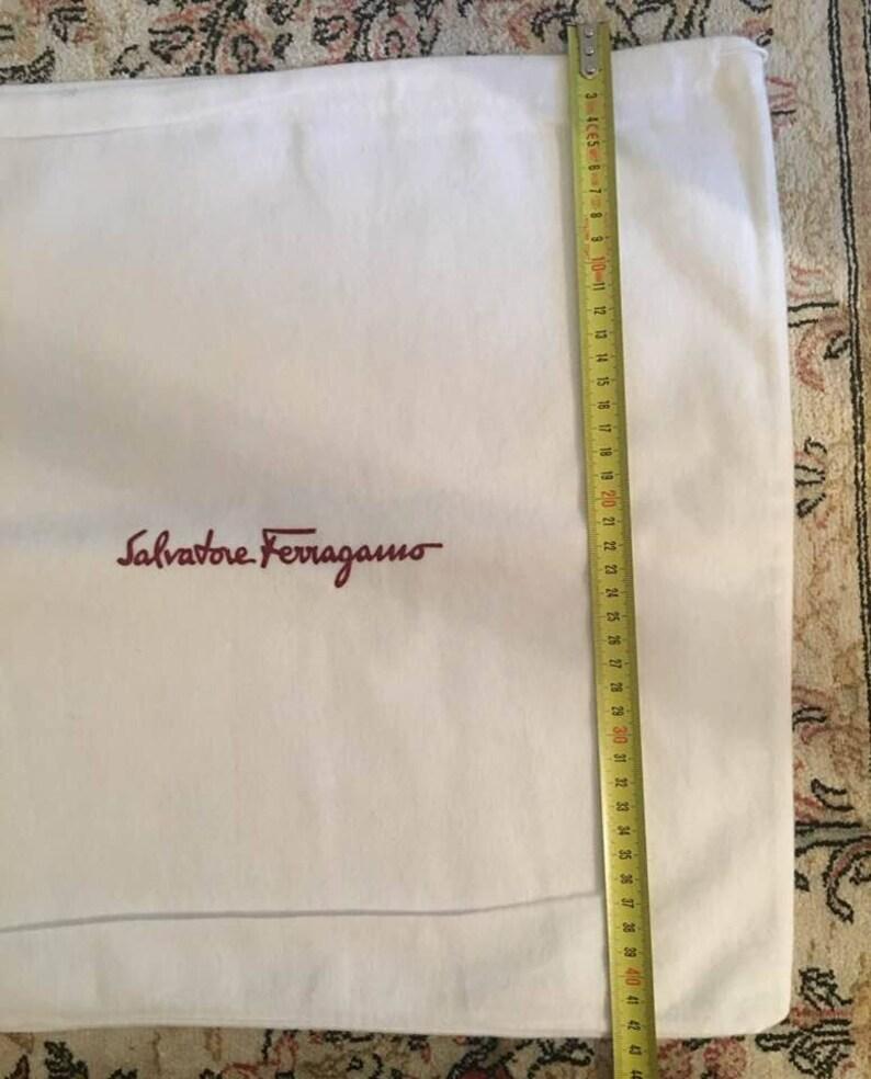 729d45df7ea6 Salvatore Ferragamo Dust Bag White for Bag Authentic