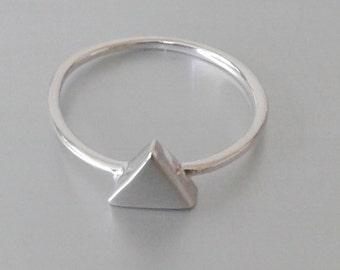 Silber dreieck ring   Etsy