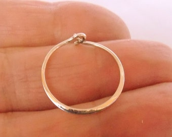 Small Gold 14k Hoop Earrings 14mm Thin Minimalist