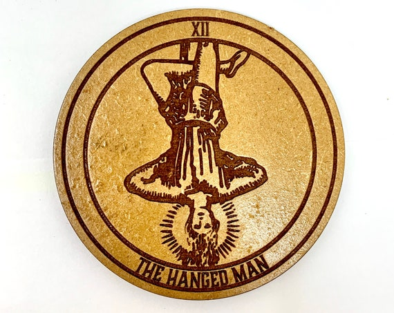 Tarot 12 - The Hanged Man - Drink Coaster Set, FREE SHIPPING