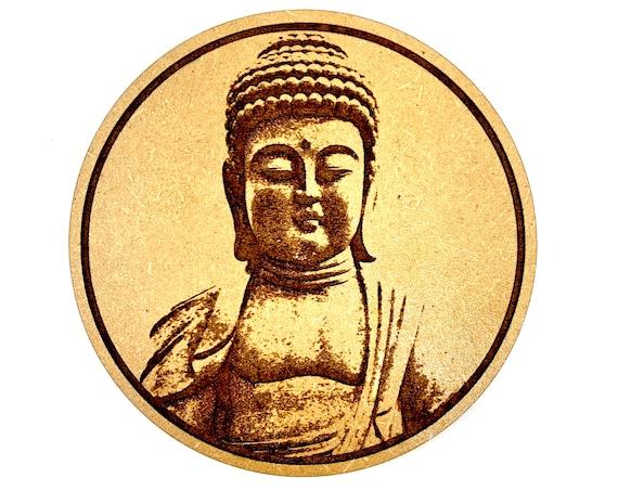 Buddha Statue Drink Coaster Set, FREE SHIPPING