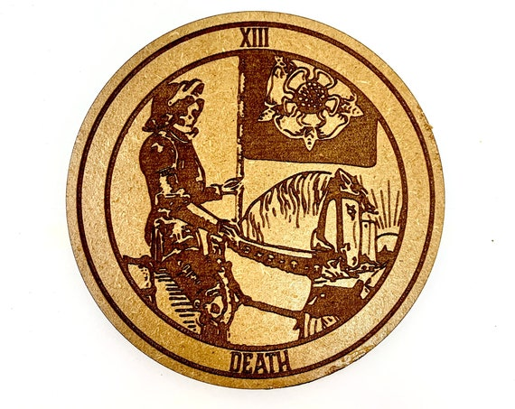 Tarot 13 - Death - Drink Coaster Set, FREE SHIPPING