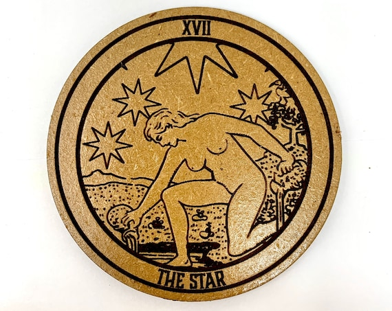 Tarot 17 - The Star - Drink Coaster Set, FREE SHIPPING