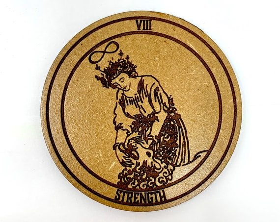 Tarot 08 - Strength - Drink Coaster Set, FREE SHIPPING