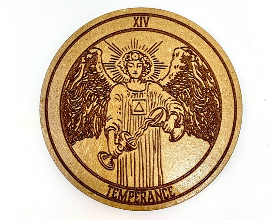 Tarot 14 - Temperance - Drink Coaster Set, FREE SHIPPING