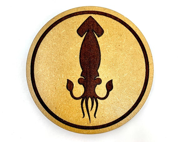 Squid Drink Coasters Set, FREE SHIPPING