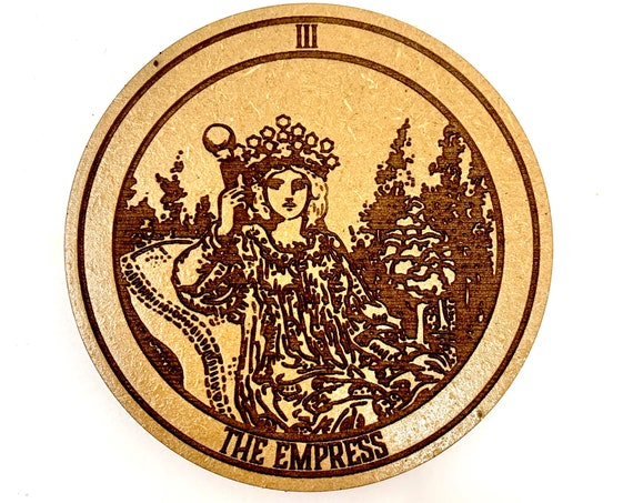 Tarot 03 - The Empress - Drink Coaster Set, FREE SHIPPING