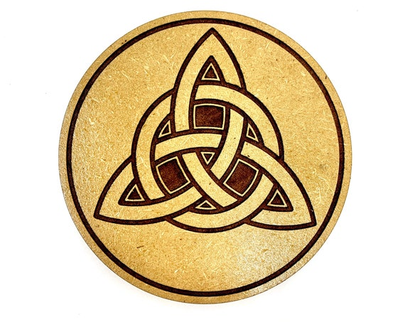 Celtic Knot Triquetra Irish Triangle Design Drink Coasters Set, FREE SHIPPING