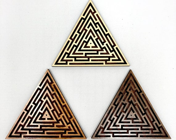 Labyrinth Maze Triangle Incense Holder, FREE SHIPPING