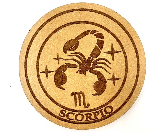 Scorpio - Astrology Star Sign - Drink Coaster Set, FREE SHIPPING