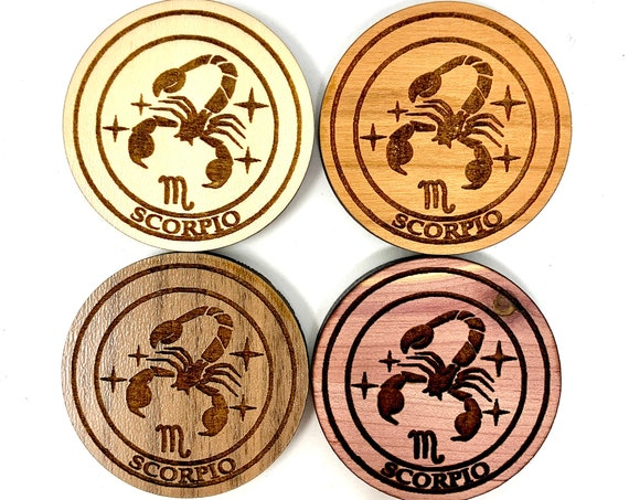 Fridge Magnet - Scorpio Astrology Star Sign Astrological Zodiac Symbol Wood Magnet Strong Heavy Refrigerator Magnets Home Decor Kitchen Art