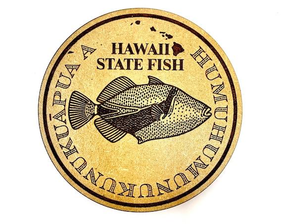 Humuhumunukunukuapua'a Hawaii State Fish Drink Coaster Set, FREE SHIPPING