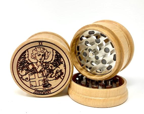 20 Tarot Deck Card - Judgement - Herb Grinder Weed Grinders Tobacco Spices 3 piece all wood set sharp blades w/ sieve FREE SHIPPING