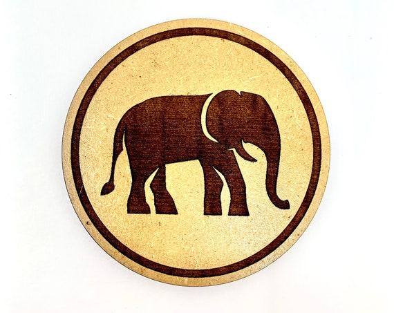 Animal - Elephant Drink Coaster Set, FREE SHIPPING