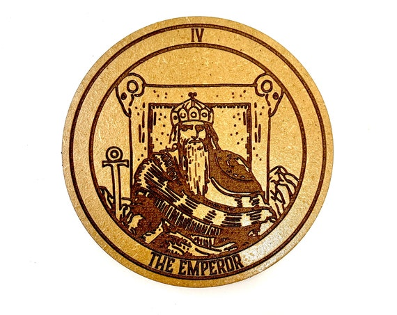 Tarot 04 - The Emperor - Drink Coaster Set, FREE SHIPPING
