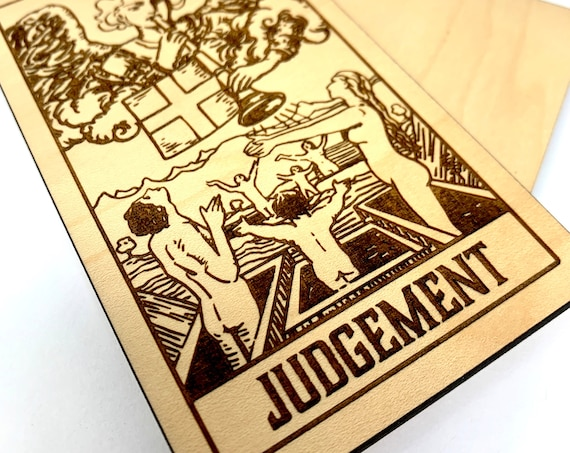 20 Judgement - Wood Tarot Card, Free Shipping