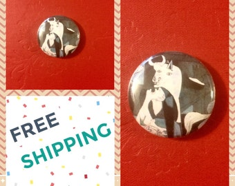 Pablo Picasso Cubist, Guernica Button Pin, FREE SHIPPING & Coupon Codes