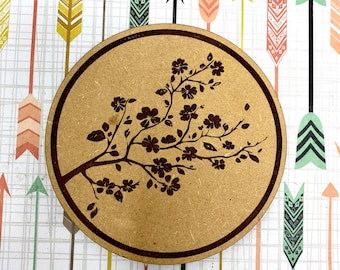 Cherry Blossom Japanese Drink Coaster Set, FREE SHIPPING