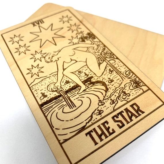 17 The Star - Wood Tarot Card, Free Shipping