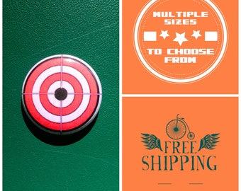 Bullseye w/ Crosshair Button Pin or Magnet, FREE SHIPPING & Coupon Codes