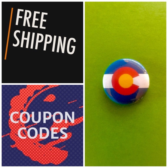 Colorado State Flag Button Pin, FREE SHIPPING