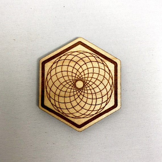 Wood Magnet - Torus Sacred Geometry Design, FREE SHIPPING