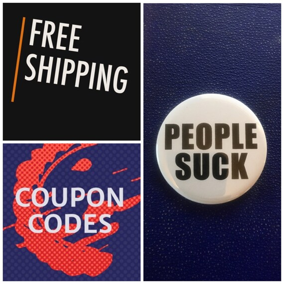 People Suck Button Pin, FREE SHIPPING